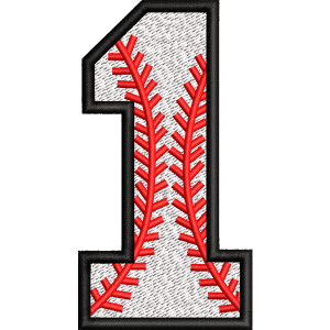 One Number Embroidery Design