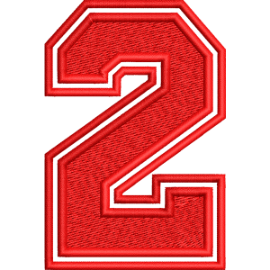 Two Number Embroidery Design