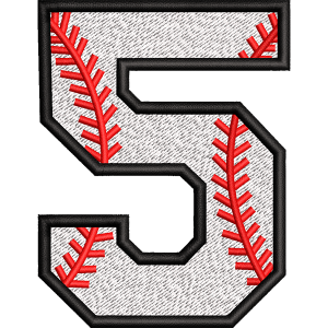 Five Number Embroidery Design