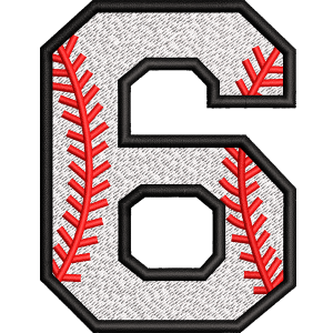 Six Number Embroidery Design