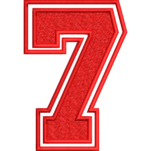 Seven Number Embroidery Design