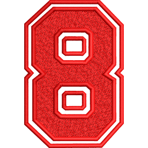 Eight Number Embroidery Design