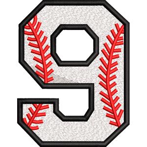 Nine Number Embroidery Design