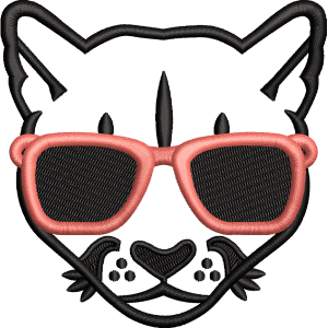Wild Cat Embroidery Design