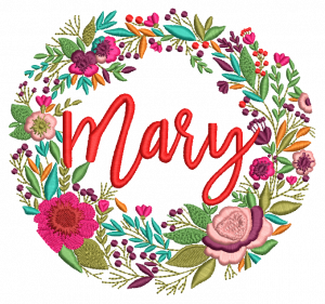 Beautiful Mary Embroidery Design