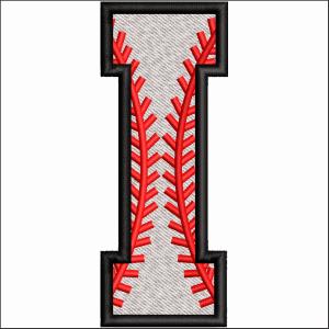 I Letter Embroidery Design