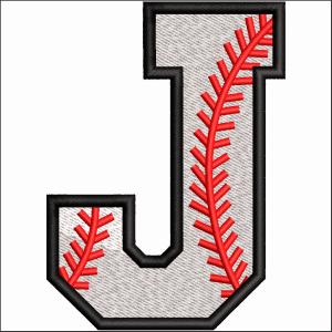 J Letter Embroidery Design