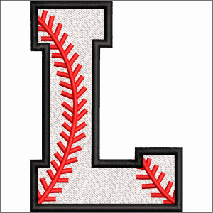 L Letter Embroidery Design