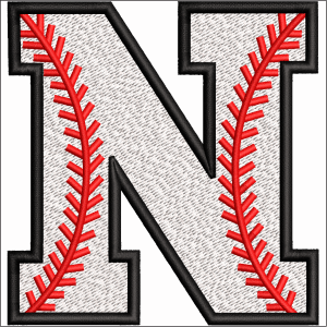 N Letter Embroidery Design