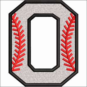 O Letter Embroidery Design
