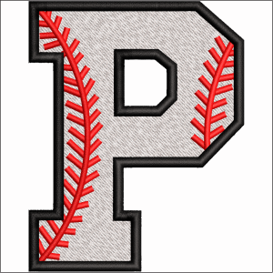 P Letter Embroidery Design