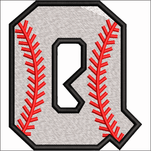 Q Letter Embroidery Design