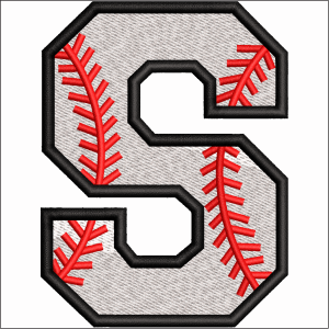 S Letter Embroidery Design
