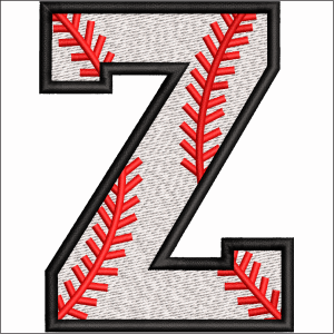 Z Letter Embroidery Design