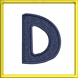 D Letter Embroidery Design
