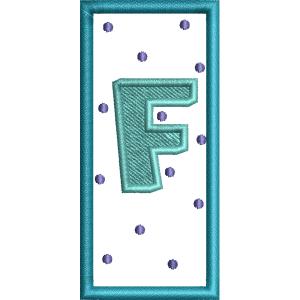 F Letter Embroidery Design