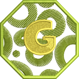 G Letter Embroidery Design