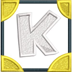 K Letter Embroidery Design