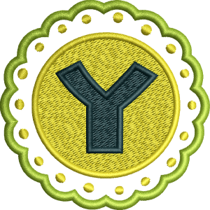 Y Letter Embroidery Design