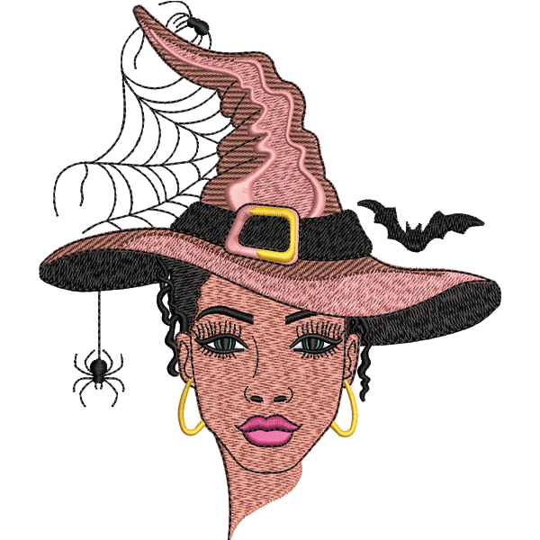 Halloween Girl Embroidery Design