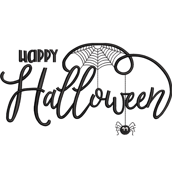 Latest Halloween Embroidery Design